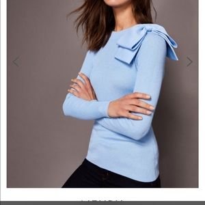 NWT Ted Baker Nehru Bow Detail sweater sz 4 = US L